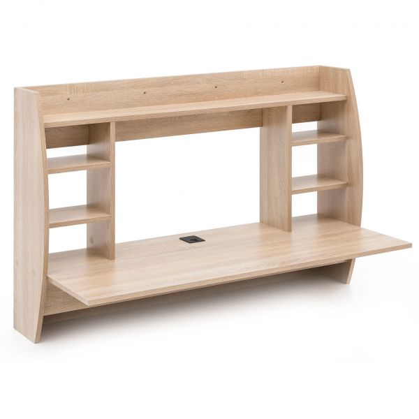 Wandtisch Holz Schreibtisch für die Wand Sonoma 110x75x48,5 cm