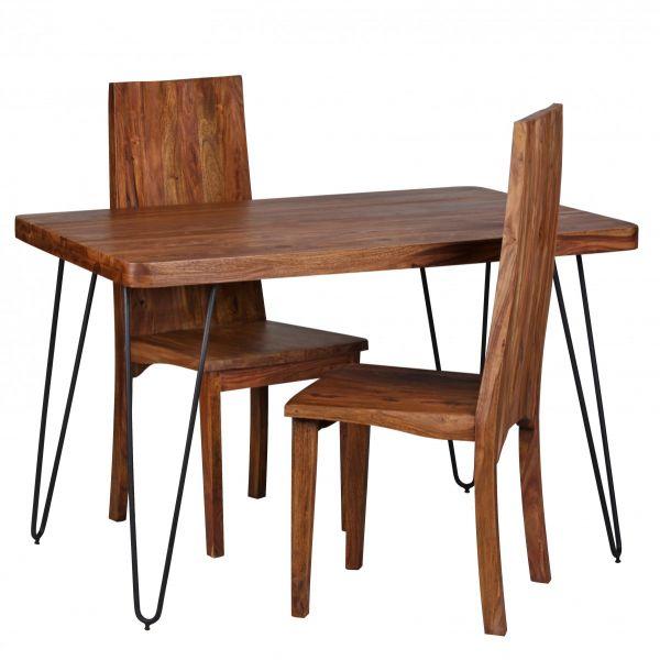 Sheesham Esstisch, Esszimmer-Tisch, 120 cm, Massivholz