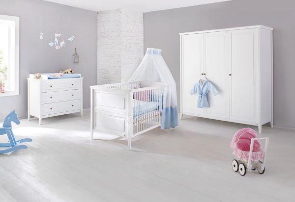 Kinderzimmer 'Smilla' breit groß, weiß