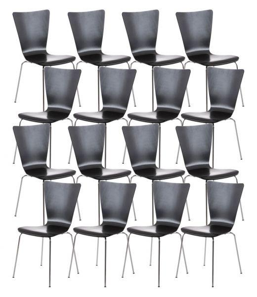 16er Set Besucherstuhl Aaron, schwarz | Büro > Bürostühle und Sessel  | CLP