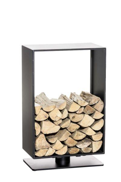 Kaminholzständer Basil 30x50x60, schwarz-matt