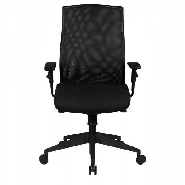 DAVID Bürostuhl, Schreibtischstuhl mit hoher Rückenlehne, Schwarz