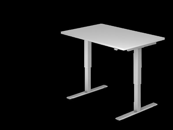 Sitz-Steh-Schreibtisch elektrisch XMST12 120x80cm Grau Gestellfarbe: Silber
