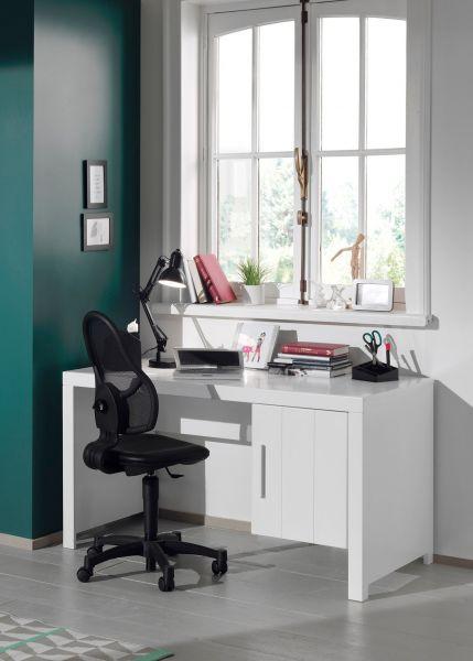 Erik Schreibtisch mit 1 Tür, Weiß