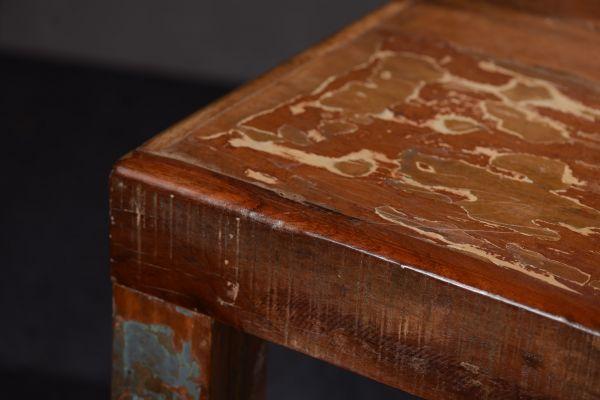 Tisch 180 x 90 cm, Altholz lackiert, bunt