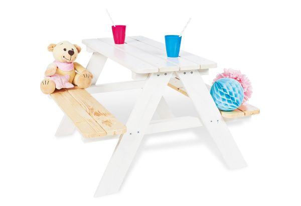 Kindersitzgarnitur 'Nicki für 4', weiß / klar