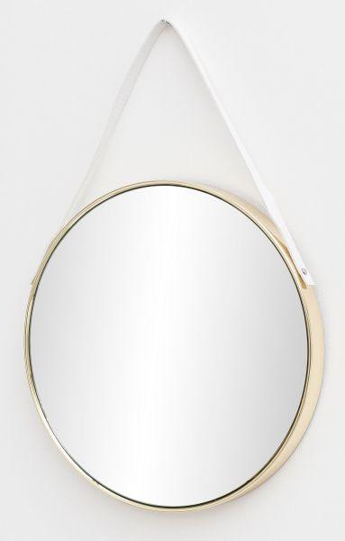 Wandspiegel Spiegel mit Rahmen Flurspiegel Rund Gold 42x61x4 cm