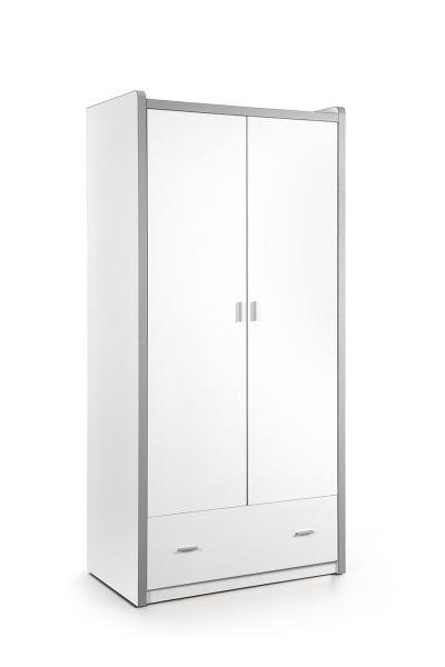 Kleiderschrank 2-trg. Bonny, Weiß