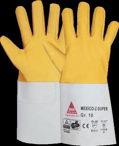 10 Paar - MEXICO-Z-SUPER, 5 Finger -Sicherheitshandschuhe für Schweisser