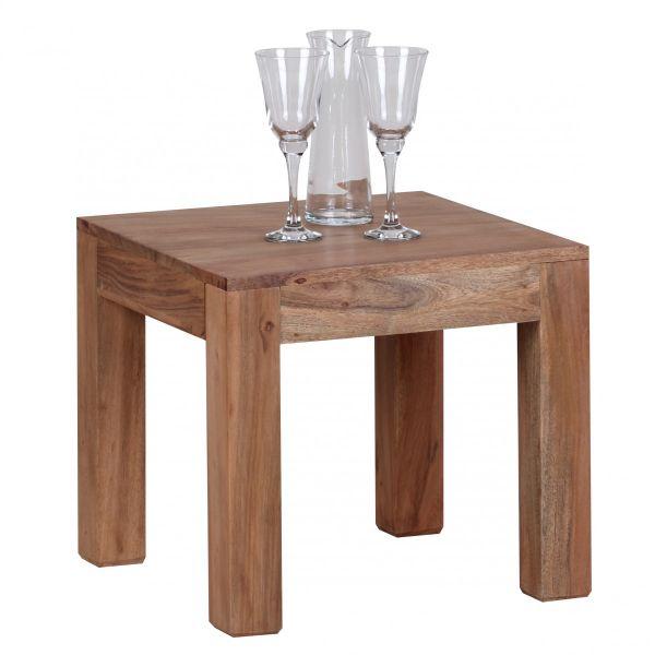 Couchtisch, Wohnzimmer-Tisch, Massiv-Holz, Akazie, 45 cm breit