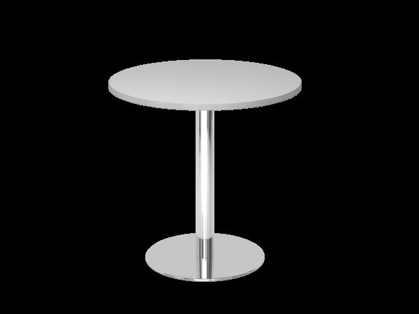 Besprechungstisch STF08 80cm Ø rund Grau Gestellfarbe: Chrom