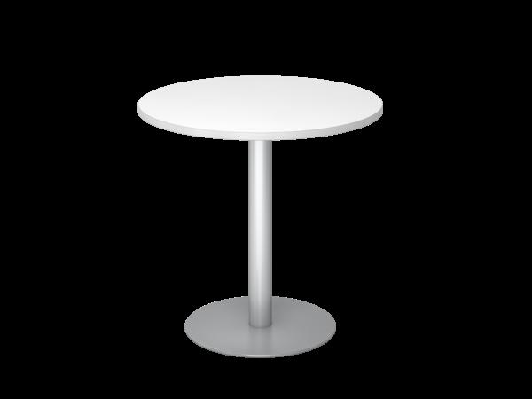 Besprechungstisch STF08 80cm Ø rund Weiß Gestellfarbe: Silber
