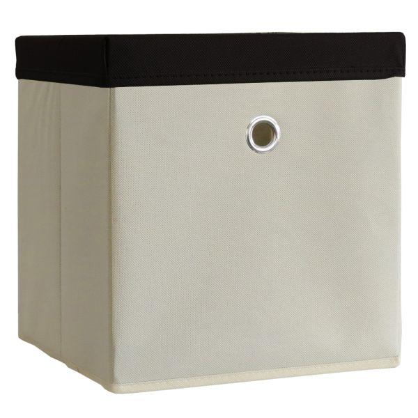 """10er-Set Faltbox Klappbox """"Boxas"""" - mit Deckel - Weiß-Natur"""