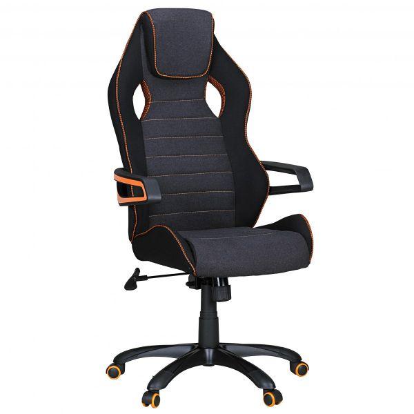 VALENTINO Bürostuhl, Schreibtischstuhl, Chefsessel, Schwarz