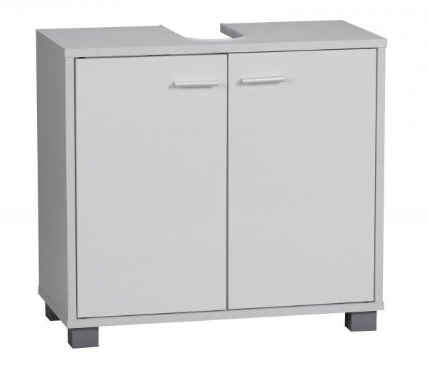 Bad-Waschbecken-Unterschrank mit 2 Türen, Weiß, 60 x 55 x 30 cm