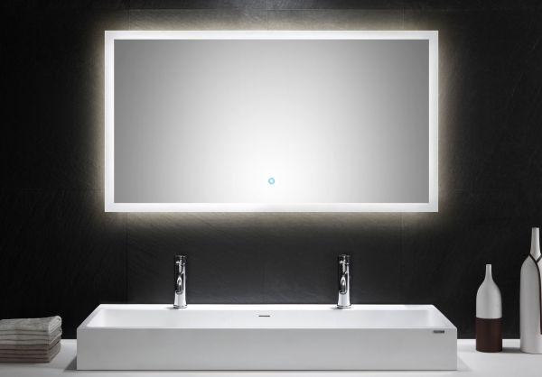 LED Spiegel 120x65 cm mit Touch Bedienung