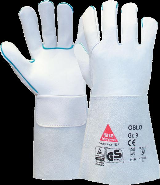 6 Paar - OSLO, 5 Finger -Sicherheitshandschuhe für Schweisser