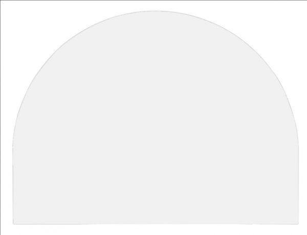 Tischplatte 60x80cm, Systembohrung für Stützfuß, Weiß
