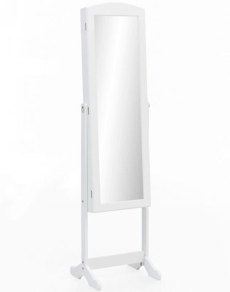 Standspiegel WL5.721 Weiß Holz 41 x 160 x 38 cm Spiegelschrank Groß