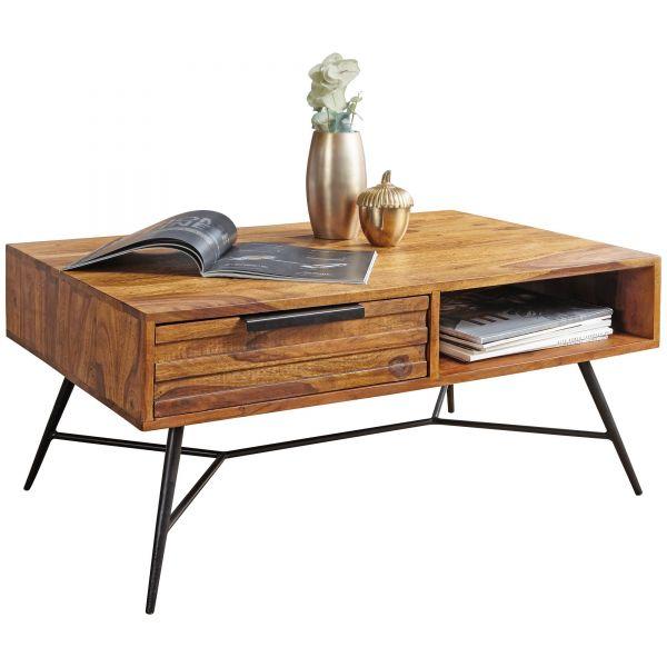 Couchtisch NISHAN 87 x 41 x 55 cm Sheesham Massiv Holz