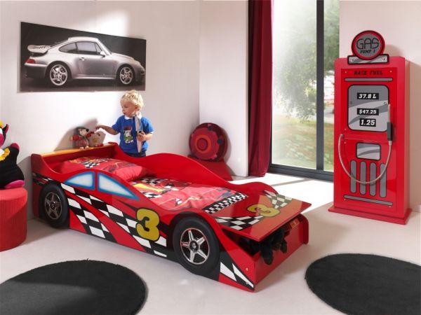 Kinderbett Autobett Race Car 70 x 140 cm, Rot