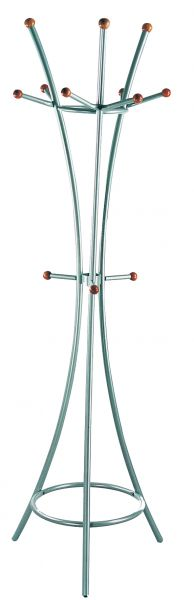 Garderobenständer, Alu, Stahl, 181cm