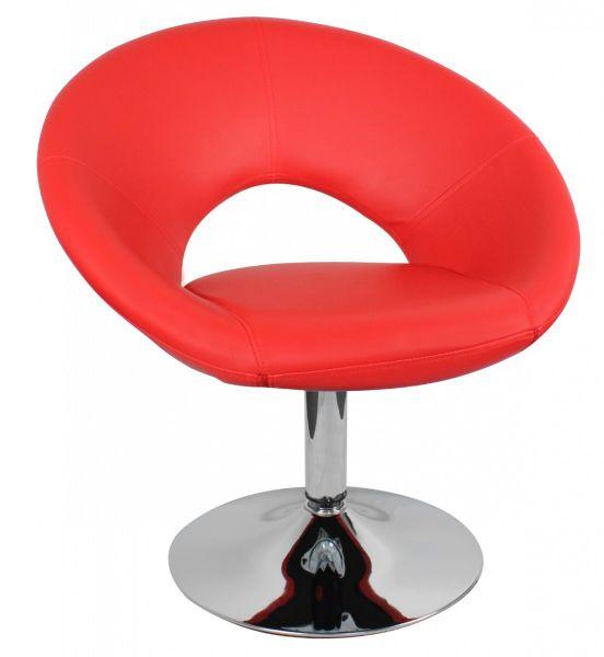 Relaxsessel MALTA Loungesessel Bezug Kunstleder Farbe rot