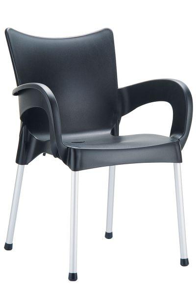 Stuhl Romeo, schwarz