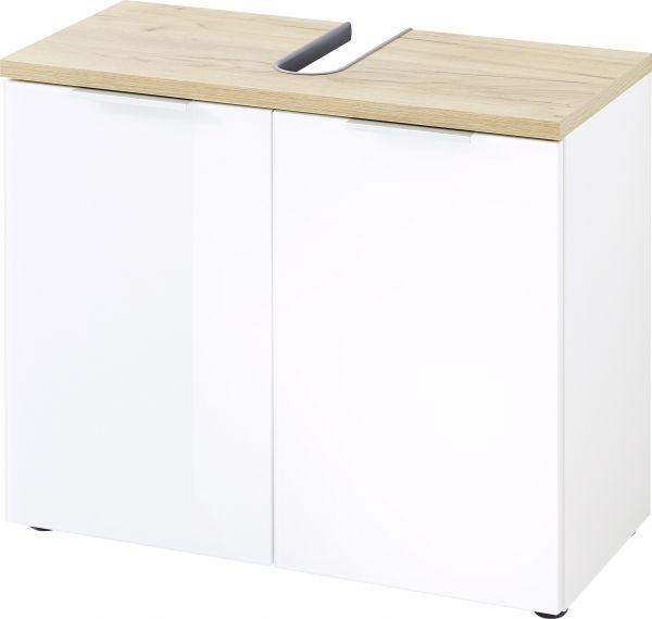 """YouHappy® Waschbecken-Unterschrank """"Shine"""", Weiß / Navarra-Eiche, 70 x 58 x 34 cm"""