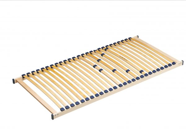 Lattenrost mit 26 Schichtholzfederleisten und Härteverstellung, Liegefläche 90 x 200 cm, Natur
