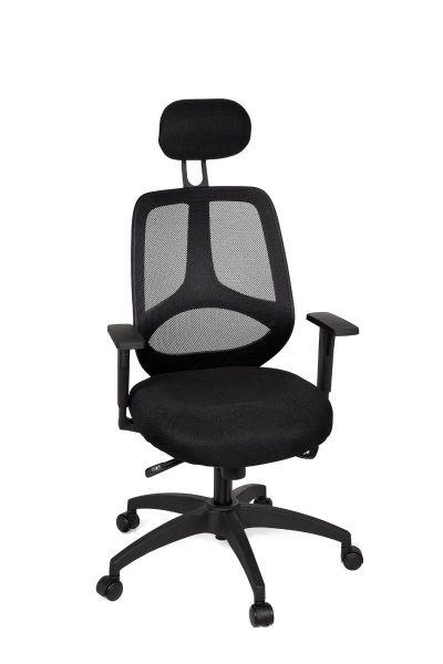 Bürostuhl, Schreibtischstuhl, Chefsessel, Schwarz