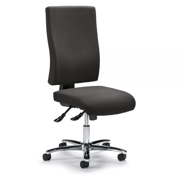 Bürodrehstuhl COMFORT R BIG DELUXE ohne Armlehnen Bezug Stoff Basic, Anthrazit