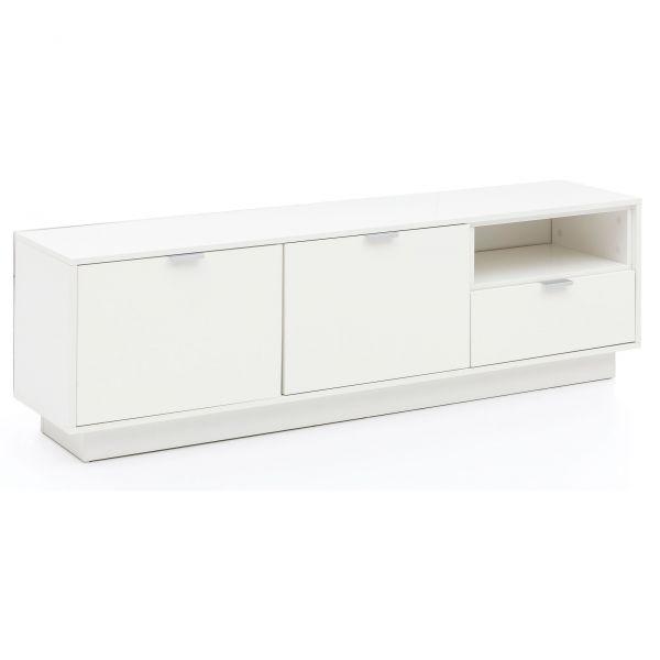 Lowboard Hochglanz Design TV Sideboard Holz Weiß Hochglanz,153x48,5x35 cm