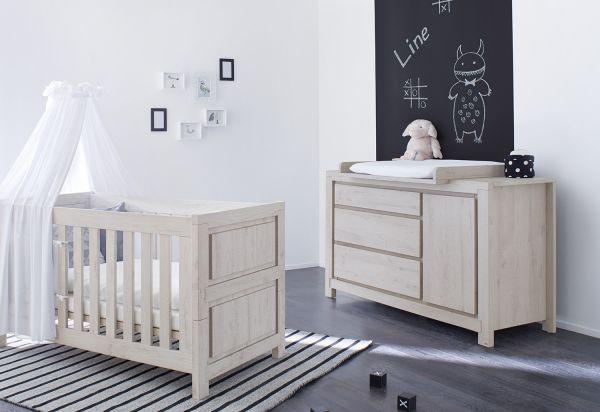 Kinderzimmer Sparset `Line` extrabreit, Eiche | Kinderzimmer > Komplett-Kinderzimmer | Pinolino