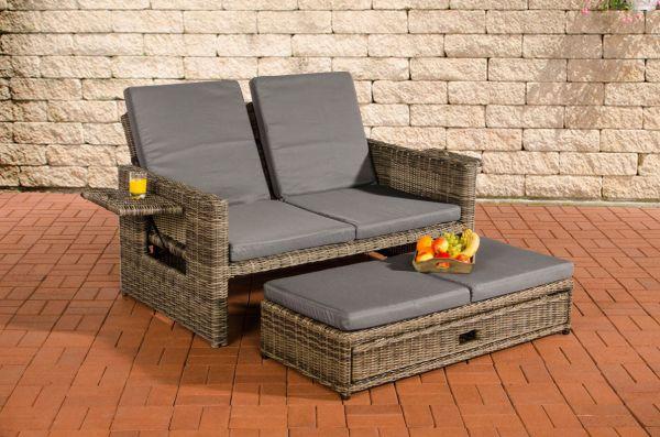 Sofa Ancona Eisengrau 5mm, grau-meliert