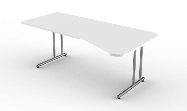Kerkmann Schreibtisch Form4, C-Fuß Gestell, Freiformtisch