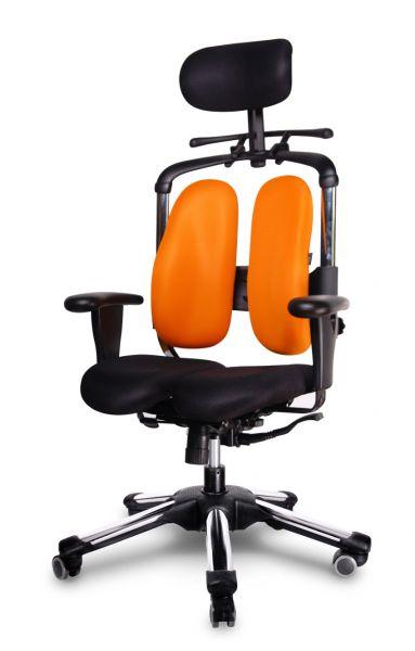 Ergonomischer bürostuhl  NIE 04 Ergonomischer Bürostuhl, Polyestergewebe Orange / Schwarz