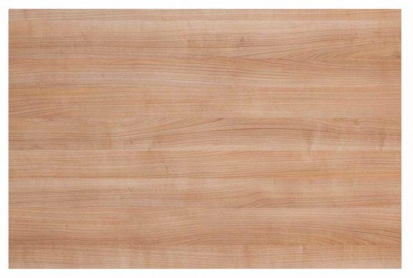 Tischplatte 120x80cm mit Systembohrung für Stützfuß, Nussbaum
