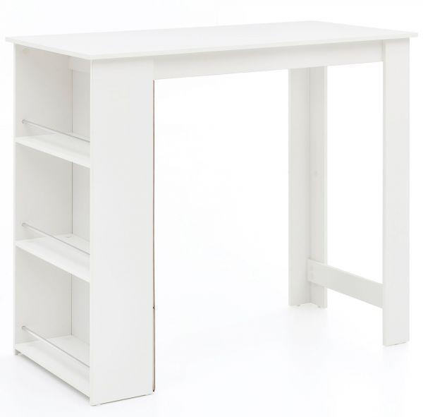 Bartisch WL5.732 Weiß 120 x 107,5 x 60 cm Stehtisch Holz Küchenbartisch