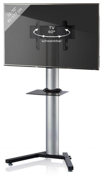 TV-Standfuß Stadino Maxi mit Zwischenboden - Silber | Wohnzimmer > TV-HiFi-Möbel > Ständer & Standfüße | Silber | VCM-Möbel