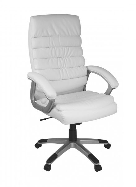 VALENCIA Bürostuhl, Schreibtischstuhl, Chefsessel, Kunstleder Weiß