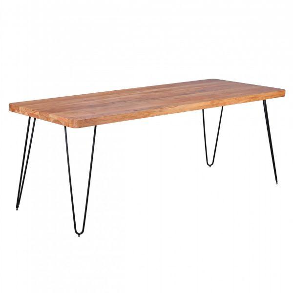 Esstisch, Küchentisch, 200 cm, Massivholz Akazie
