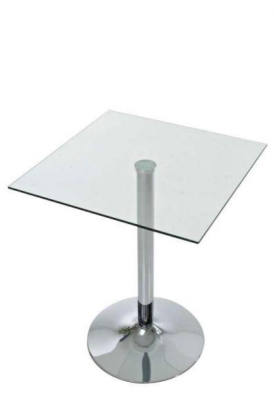 Glastisch quadratisch 72 cm, klarglas