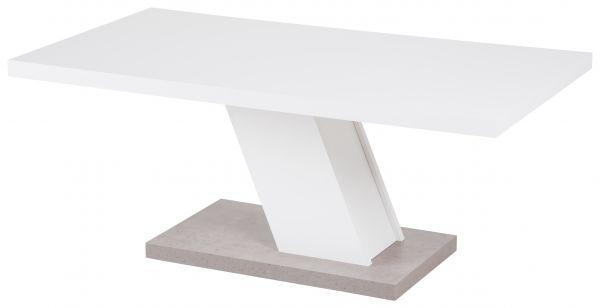 Couchtisch Innsbruck III, 110x60x45 cm, weiß / Betonoptik