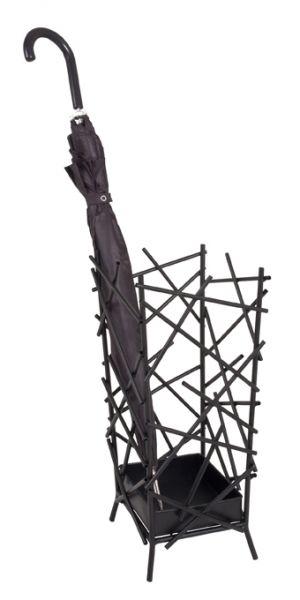 Schirmständer, anthrazit, Metall, 21x21x47cm