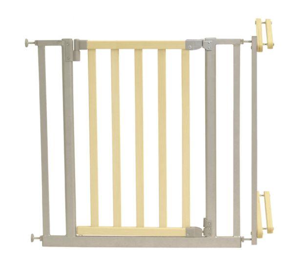 Treppenschutzgitter 81-90cm Holz/Metall, natur