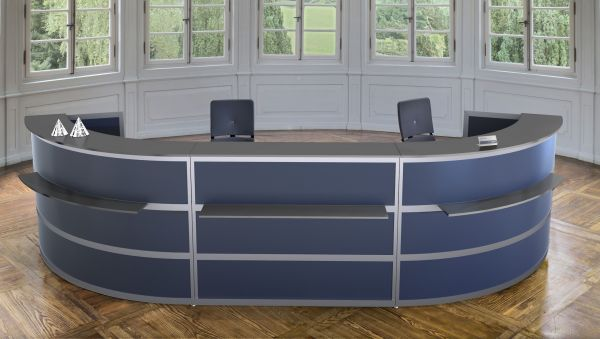 Komplett-Theke GEBOGEN / Anthrazit / Anthrazit / 486x110x138 cm | Küche und Esszimmer > Bar-Möbel > Tresen und Theken | BST-Design