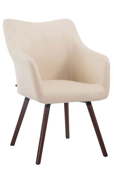 Besucherstuhl McCoy V2 Walnuss Kunstleder, creme | Büro > Bürostühle und Sessel  > Besucherstühle | Creme | Walnuss | CLP
