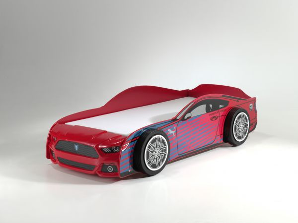 Power Autobett Kinderbett 90x200 cm rot