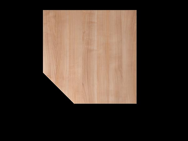 Verkettungsplatte trapezförmig mit Stützfuß LT12 Nussbaum Gestellfarbe: Silber